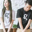 Cherry e購【K7610】潮男/情侶,韓版簡約印字彈性短袖棉T_4色