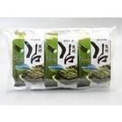 【韓味不二】韓國鹽烤海苔組 3入*5g