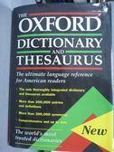 【書寶二手書T4/字典_QFO】The Oxford Dictionary and Thesaurus_Oxford