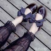 女僕鞋 春夏蝴蝶結娃娃鞋日繫百搭洛麗塔圓頭女仆鞋制服鞋lolita皮鞋 傾城小鋪