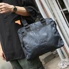男包 迷彩橫款手提包商務出差公文包單肩包斜挎包休閒包男士潮 快速出貨