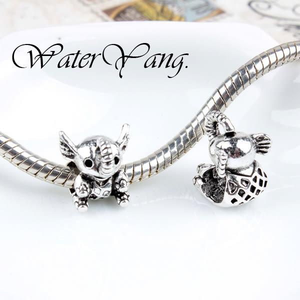 WaterYang.×動物園-可愛的大象 潘朵拉風串珠手鍊配件