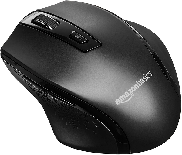 [2美國直購] Amazon Basics 人體工學無線 PC 滑鼠 - DPI 可調整 - 黑色