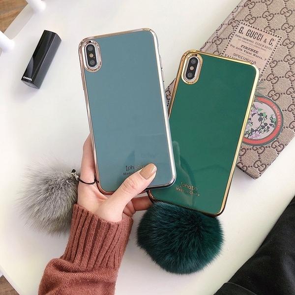 純色電鍍iphone11promaxiPhonexs手機殼xr 7p軟6s女8p華p30mate20奶奶灰 店慶降價