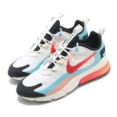 Nike 休閒鞋 Air Max 270 React 白 紅 藍 氣墊 男鞋 潑墨中底 【ACS】 DD8498-161