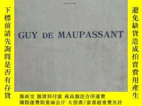 二手書博民逛書店1933年巴黎出版的《GUY罕見DE MAUPASSANT》par RENE DUMESNIL,巴黎ARMAND