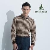 JOHN DUKE 約翰公爵經典橫紋紳士休閒衫