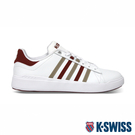 K-SWISS Pershing Court Light輕量休閒運動鞋-男-白/紅/卡其