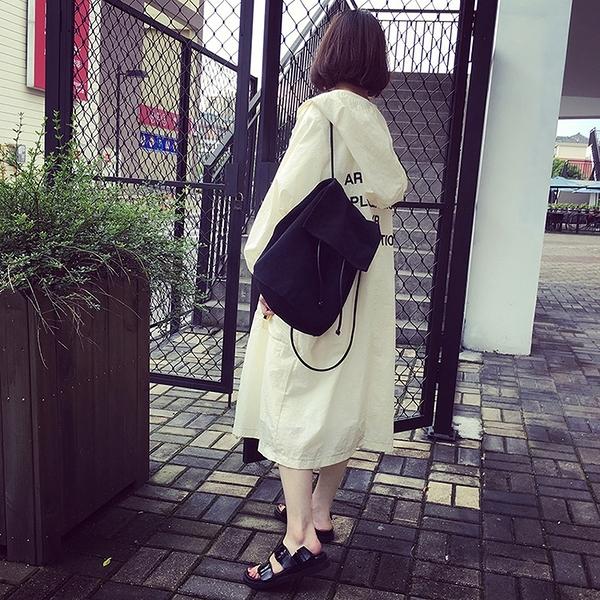 店長推薦 韓版BF風衣薄外套中長款大碼3色