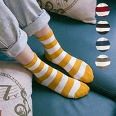 韓國襪子女文藝清新彩色條紋中筒襪日系學院風棉襪個性百搭長襪