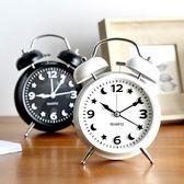 床頭時尚簡約懶人超大聲音鬧鐘創意鬧錶學生夜光燈鬧鐘走時靜音