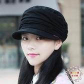 帽子帽子女正韓潮顯臉小平頂帽大尺碼時裝帽媽媽帽正韓鴨舌帽早秋貝雷帽