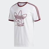 adidas T恤 Meka Tre Tee 男款 短T 短袖 上衣 街頭 滑板 白 紅 【PUMP306】 EC4884