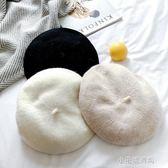 帽子秋冬天款貝雷帽日系百搭南瓜帽韓版羊毛呢蓓蕾女英倫畫家帽子『小宅妮時尚』
