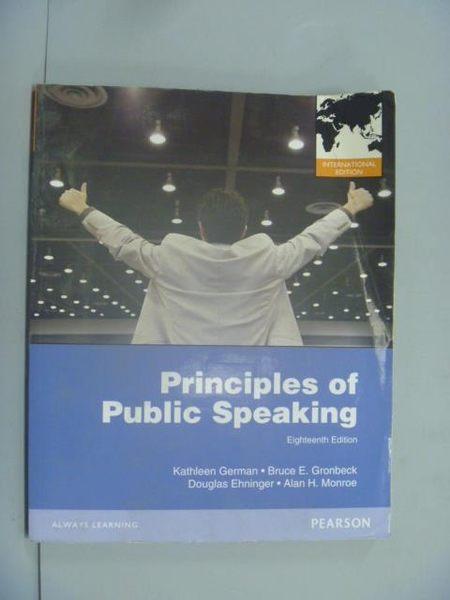 【書寶二手書T7/溝通_YAY】Principles of Public Speaking_Kathleen M. Ge