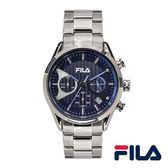 【FILA 斐樂】/三眼橡膠帶錶(男錶 女錶 Watch)/38-827-004/台灣總代理原廠公司貨兩年保固