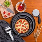 魔幻廚房披薩盤烤盤家用烘焙烤箱6/7/8/9寸圓形pizza套裝蛋糕模具 喵小姐