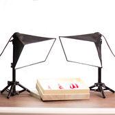 全館免運八折促銷-LED柔光燈淘寶珠寶文玩攝影燈桌面拍照常亮台燈 小型攝影棚補光燈jy