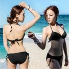 泳衣女韓國分體三點式 性感ins黑色三角比基尼鋼托聚攏藝考比基尼 喵小姐