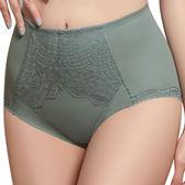 思薇爾-挺美力系列M-XXL蕾絲高腰三角修飾褲(倫敦灰)