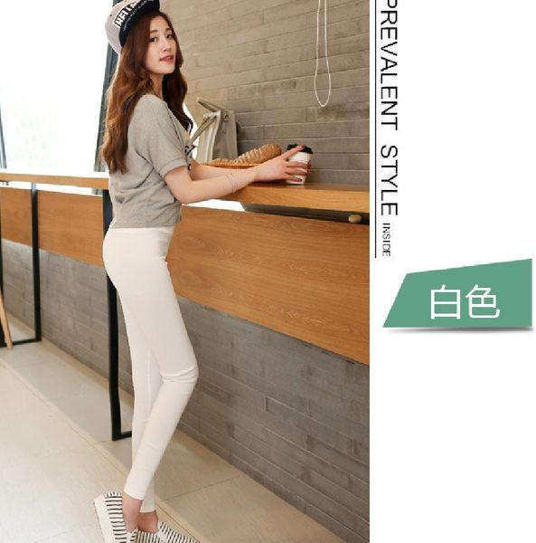 【現貨+預購】韓版超顯瘦不抽拉絲起球緊身純黑色打底長褲 外穿女薄 (B005)