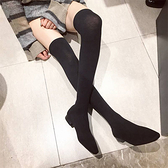 襪靴-韓國新款超彈力修飾顯瘦過膝襪靴 長靴 過膝靴 膝上靴【AN SHOP】