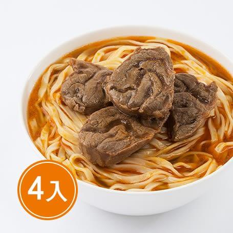 【紅龍】紅燒牛肉麵 (牛肉湯600g*4包; 麵220g*4包)