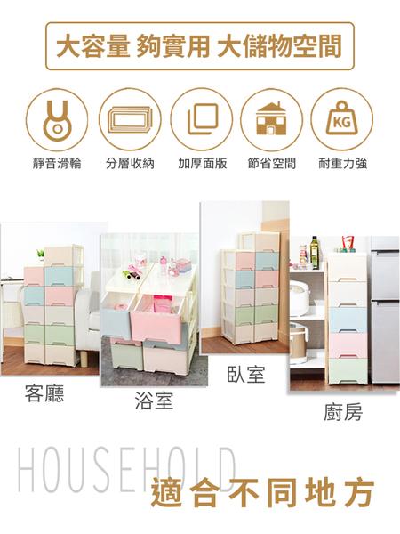 【樂邦】18cm面寬六層夾縫收納櫃-抽屜式 夾縫收納 置物架 整理櫃 浴室 廚房收納 夾縫儲物櫃