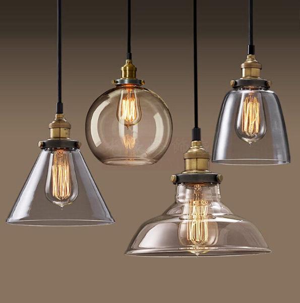 簡約北歐美式鄉村玻璃吊燈復古工業風餐客廳書房臥室酒loft燈【極有家】igo