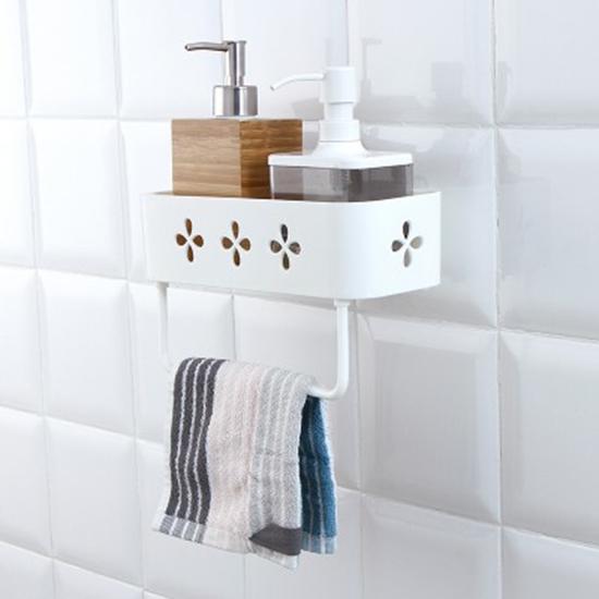 ◄ 生活家精品 ►【G014-1】 瀝水壁掛置物架 收納架 瀝水架 免打孔 無痕 強力黏膠 浴室 毛巾 架子