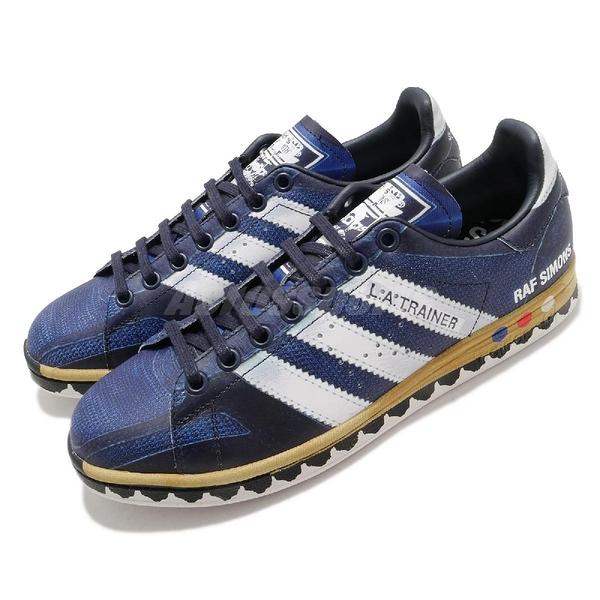 【海外限定】adidas 休閒鞋 RS Samba Stan 藍 白 男鞋 3D 視覺效果 聯名款 運動鞋 【ACS】 EE7951