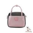 B.S.D.S冰山袋鼠 - 香檳歐蕾 - 純色拼接兩用手提包 - 藕粉紫【Y4501-PR】