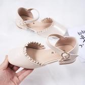 女童皮鞋2020新款兒童高跟公主鞋小女孩軟底中大童單鞋寶寶豆豆鞋 滿天星