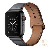 適用iwatch表帶apple watch真皮錶帶蘋果手表帶【橘社小鎮】