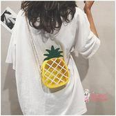 果凍包 菠蘿包包女新款果凍包韓版透明斜背小包包仙女包夏天單肩女包