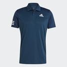 Adidas TENNIS CLUB 男裝 短袖 POLO衫 網球 休閒 吸濕排汗 透氣孔 深藍【運動世界】GL5458
