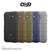 QinD SAMSUNG Galaxy J6+ 戰術護盾保護套 氣囊 減震抗摔 全包邊 保護殼 背蓋 保護套