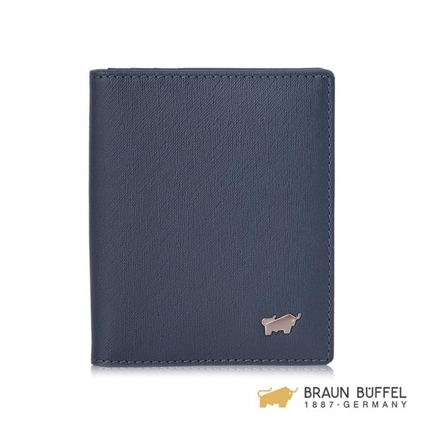 【BRAUN BUFFEL】HOMME-M系列名片夾 - 深藍 BF306-401-MAR