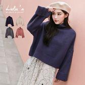 LULUS-C立領反摺袖針織上衣-4色  現+預【01052843】