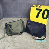 側背包 大容量休閒單肩包簡約時尚尼龍斜背包男女短途旅行袋運動健身包包 2色