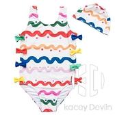 嬰兒泳衣女寶寶0-1-2-3歲可愛連體幼兒比基尼三歲溫泉女童泳裝【Kacey Devlin】