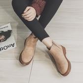 短靴女 馬丁靴 子新款學生百搭黑色機車短筒靴春秋英倫風鞋女韓版女鞋子《小師妹》sm3215