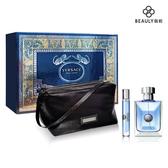 VERSACE 凡賽斯 POUR HOMME 經典男性淡香水禮盒(香水100ml+10ml+手拿包)《BEAULY倍莉》