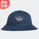 【現貨】Adidas LOGO 帽子 漁夫帽 雙面戴 流行 休閒 藍【運動世界】GN2255