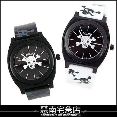 惡南宅急店【0328F】造型手錶‧男錶女錶『俏皮骷髏條紋』情侶對錶可‧單支價