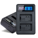 YHO 液晶雙槽充電器for Sony NP-FW50 (一次充兩顆電池)行動電源也能充