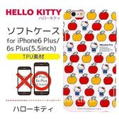日本限定 HELLO KITTY 蘋果滿版 iPhone6 Plus 手機殼