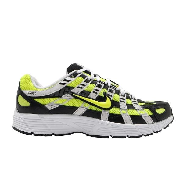 【五折特賣】Nike 休閒鞋 P-6000 綠 黑 男鞋 運動鞋 復古慢跑鞋 【ACS】 CD6404-007