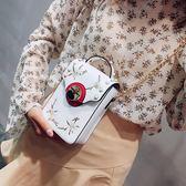 包包2018新品韓製鉚釘手機包小方包手提單肩包女包 鉅惠兩天【限時八五折】