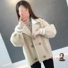 毛衣外套 秋冬2020新款仿水貂絨外套女短款顯瘦很仙的毛衣小開衫女加厚貂毛